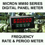 Micron Digital Panel Meter | Frequency | Rate & Period