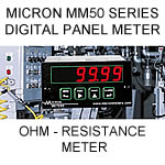 Micron Digital Panel Meter | Ohm-Meter