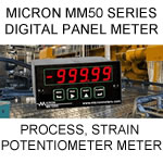 Micron Digital Panel Meter | Process Meter | Analog Ratio Meter