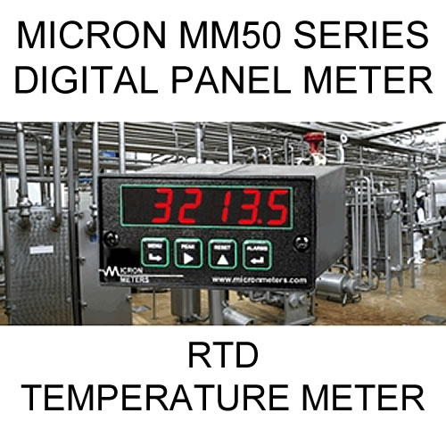 Micron Digital Panel Meter | RTD Temperature and Control