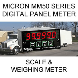 Micron Digital Panel Meter for scales